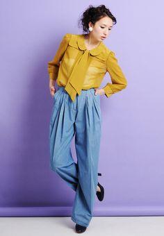 SEE BY CHLOE blouse シーバイクロエ コットン×シルク シフォン 丸襟 ボウタイ シャツ ブラウス(12SS)