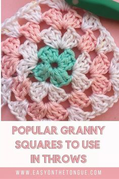 The most popular Granny Squares to use for Throws 2019 A selection of the most. The most popular Granny Squares to use for Throws 2019 A selection of the most. : The most popular Granny Squares to u. All Free Crochet, Easy Crochet Patterns, Knitting Patterns, Afghan Patterns, Free Knitting, Crochet Ideas, Simple Knitting, Loom Knitting, Sunburst Granny Square