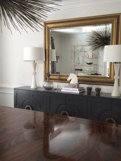 Dining Room - Custom Credenza - Grey Furniture