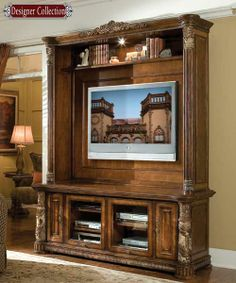 If I ever came into a windfall, this is the entertainment center I want!  from Magnolia Hall-Made in the USA <3