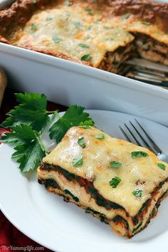 A 30+ year old family favorite has cheesy indulgence along with nourishing veggies. A distinctively flavored sauce sets it apart from other vegetarian lasagnas, and it's hearty enough to satisfy meat eaters. Make it ahead for convenience and improved flavor. Freezes well. From The Yummy Life