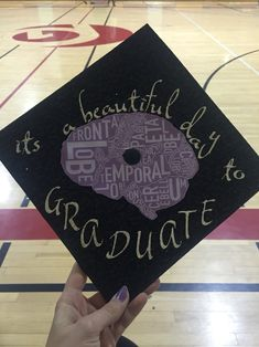 """it's a beautiful day to save lives"" grey's anatomy inspired grad cap"