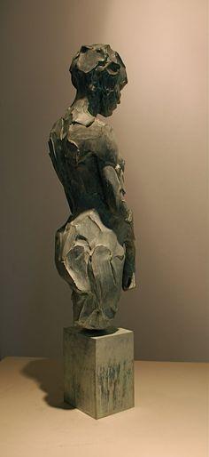 Catherine Thiry - sculpture - La Petite - bronze - 45 cm #SculpturactGallery #catherineThiry: