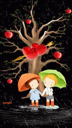 crianças-brincando.gif (299×532), Papa y mama, juntos por siempre; la lluvia unos de mejores recuerdos de la infancia.