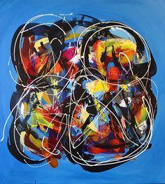 Malerier | Billedkunstner Martin Boldsen Ferris Wheel, Fair Grounds, Abstract, Painting, Kunst, Summary, Painting Art, Paintings, Painted Canvas
