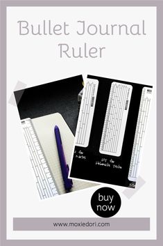 Can't draw a straight line? Tired of counting boxes? This bullet journal rule is for you. Get yours here. #bulletjournal #ruler