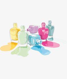 акварель ногтей, лак для ногтей, цветной, акварель Изображение PNG