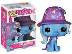 From My Little Pony: Friendship is Magic! The Great and Powerful Trixie has transformed herself into a Pop! Vinyl Figure! Standing approximately 3 3/4-inches tall. The My Little Pony Friendship is Magic Trixie Pop! Vinyl Figure is a must for any MLP collection!