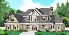 Country Style House Plans - 2705 Square Foot Home , 2 Story, 4 Bedroom and 2 Bath, 3 Garage Stalls by Monster House Plans - Plan 13-139