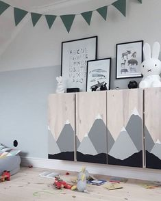 10 ways to hack the Ikea Ivar cabinet into something special for the kids room Ikea Kids Bedroom, Scandinavian Kids Rooms, Baby Room Colors, Kids Room Design, Baby Boy Rooms, Kids Furniture, Furniture Stores, Furniture Movers, Cheap Furniture