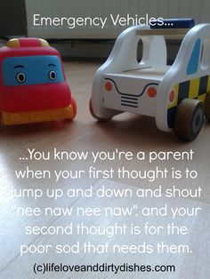Emergency Vehicles #Parenting #Humour