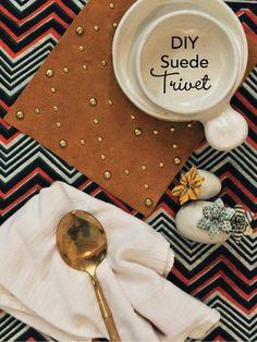 DIY Suede Trivet