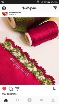 HUZUR SOKAĞI (Yaşamaya Değer Hobiler) Creative Embroidery, Hand Embroidery Designs, Crochet Motifs, Crochet Lace, Saree Kuchu Designs, Hairpin Lace, Needle Tatting, Knitted Shawls, Knitting Socks