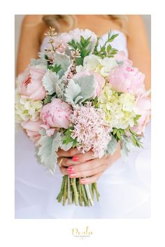Bridal Flowers of pink and white tones