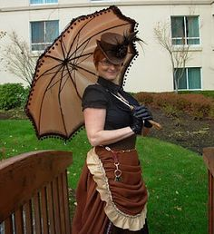 The Steam Wench's Salon: Turning a normal umbrella into something slightly more parasol-y