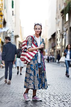 On the Street….Italian Cover-up, Florence - The Sartorialist