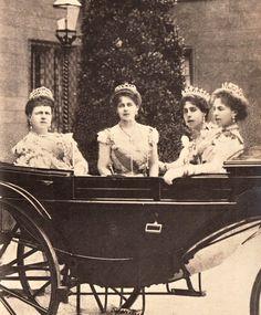 antique-royals:  Maria Duchess of Edinburgh and daughters Maria , Victoria Melita and Alexandra
