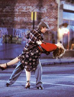 "Noah and Allie from "" The Notebook "" Dancing in the middle of the street!  Perfect!"