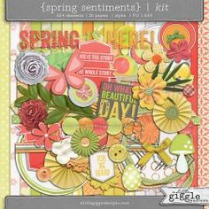 {Spring Sentiments} Kit | A Little Giggle Designs