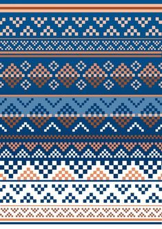 Pattern Art Print by Luke Thomas - X-Small, Diy Abschnitt, Fair Isle Knitting Patterns, Knitting Charts, Loom Patterns, Knitting Stitches, Beading Patterns, Stitch Patterns, Crochet Patterns, Motif Fair Isle, Fair Isle Chart