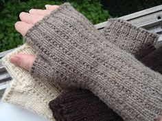 Ravelry: Handed Yes, Fingered No - Mitts that Fit pattern by Ellen M. Silva