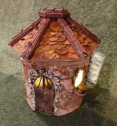 Where dreams reside.  Elf Home w/ lighting night light hand made by LilHouseOnTheFairy, $150.00