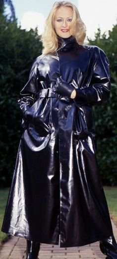 Black Rubber Raincoat