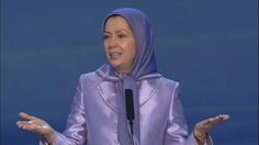 """Berlin,  March7, 2015:   Maryam Rajavi, speaks  in a gathering in Berlin. Tens of thousands gathered in Berlin today to commemorate International Women's Day, in the gathering for """"Tolerance and Equality for Women""""."""