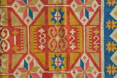 ANTIQUE SIGNED DATED 1822 SWEDISH SKANE ROLAKAN TAPESTRY