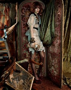 Model: Freja Beha Erichsen Photography: Javier Vallhonrat Styling: Lucinda Chambers Vogue UK
