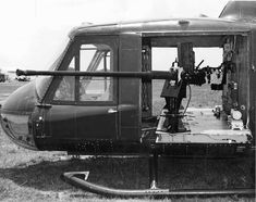 """colonel-kurtz-official: """"UH-1B Huey armed with the Hispano-Suiza M139 20mm autocannon. """""""