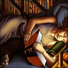 ANNE BASCOVE  Reading in Bed (1994)