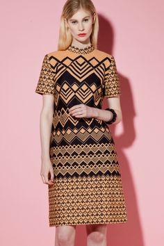 Vintage 1960s Geometric Print Shift Dress http://thriftedandmodern.com/vintage-1960s-laiglon-geometric-print-dress