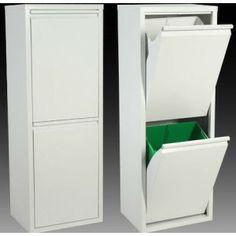 Papelera reciclaje dos cubos