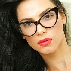 60's Vintage Designer Women Fashion Cat Eyeglasses Polished Tortoise Brown Frame | eBay