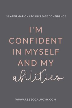 You can increase confidence and reduce anxiety with affirmations. Confidence affirmations for women. Affirmations for anxiety. Confidence boosters and confidence building. Daily positive affirmations for women. Affirmations Confidence, Affirmations For Women, Affirmations Positives, Daily Positive Affirmations, Positive Quotes, Motivational Quotes, Inspirational Quotes, Positive Attitude, Positive Things