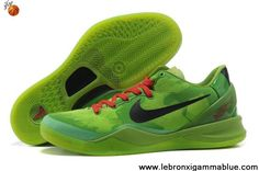 sports shoes 9f44e c387f Cheap Nike Zoom Kobe 8 (VIII) Christmas Green Black Red Basketball Shoes  Style For Wholesale