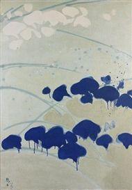 Artwork by Teruko Yokoi, Violet, Made of Oil on canvas