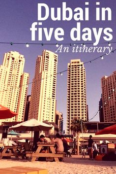 How to 'do' Dubai in five days. A full itinerary from a Dubai blogger. With this five day travel guide for Dubai, you'll see Dubai Mall, the Marina, the best of Dubai's crazy architecture, the Palm Jumeirah and even a lavish brunch. There's also restaurant recommendations so you know where to eat - you HAVE to eat near the fountain show! And you can't go to Dubai without doing a desert safari... walk this way to have the most memorable holiday in Dubai ever!