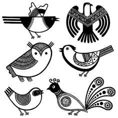 mages of Canada's north - idea for Easter eggs? Native Art, Native American Art, Bird Illustration, Illustrations, Inka, Scandinavian Folk Art, Madhubani Art, Indian Folk Art, Doodles Zentangles