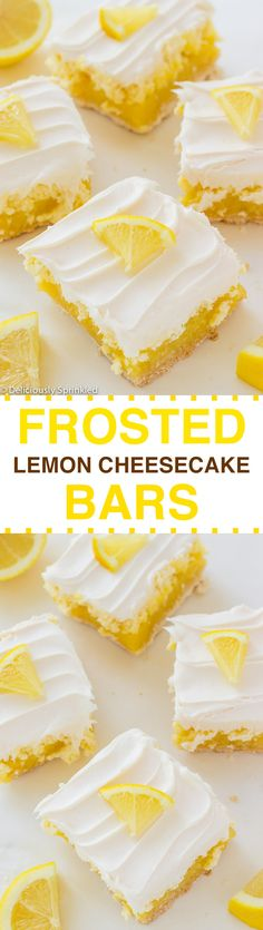Frosted Lemon Cheesecake Bars