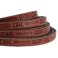 20 cm Plat imi leer 5mm met quote Boho chic Roast brown: