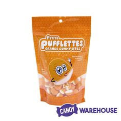 A great car or movie snack—Orange Petite Pufflettes Gummy Bites Bulk Candy, Candy Store, Wholesale Candy, Types Of Candy, Orange Candy, New Inventions, Razzle Dazzle, Bite Size, Sign I