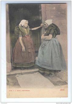 Postkaart: in Axelsche dracht.