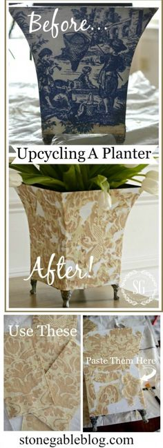 UPCYCLING A PLANTER An easy budget friendly way to decorate