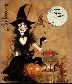 witch & cauldron