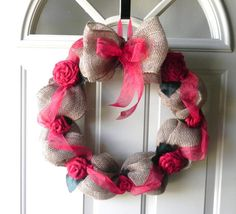 SCENTED Burlap Wreath  Christmas Wreath  Customize by RedRobynLane, $65.00