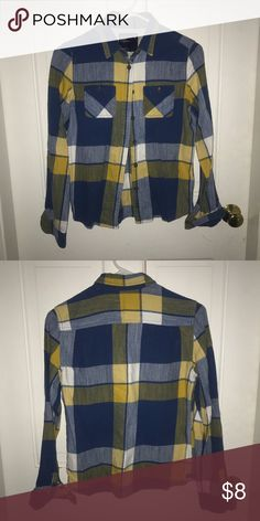 American Eagle flannel Great condition! American Eagle Outfitters Tops