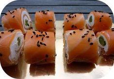 Roulés de saumon fumé au chèvre frais et asperge verte façon sushis, Recette Ptitchef