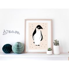 L'affiche Pingouin est idéale en décoration dans une chambre d'enfants. C'est un…
